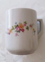 Zsolnay porcelán virágos bögre 9 cm