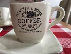 Country Home stilusú kávés csészék 6 db