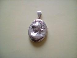 Csodaszép antik nagyméretű nyitható ezüst medál