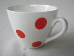 Gránit kerámia piros pöttyös csésze bögre