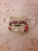 1 db Leveses csésze gulyás leves recepttel