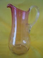 Antik, szecessziós üveg vizeskancsó 180526/14