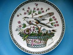 Hutschenreuther Ole Winther május madaras tányér