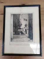 Kőszegi Bencés templom / rézkarc-1925