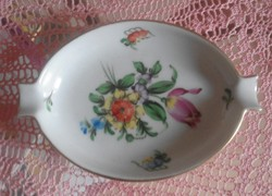 Herend floral ashtray with anniversary seal