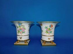 Herendi   Viktória   barokk Körmös váza pár