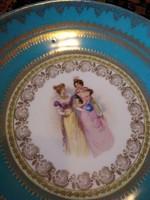 Jelenetes fali tányér