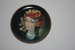 Hollóházi Szász Endre tányér 31 cm