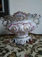 Herendi barokk váza, két oldalán a korra jellemző virág mintával 1947-ből!