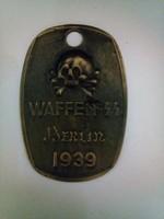 Waffen SS Berlin azonosító MÁSOLAT