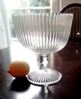 Bordás üveg talpas nagy kehely