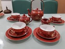 4 személyes porcelán Kínai teáskészlet