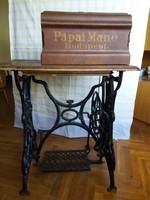 Pápai Manó mechanikus öntött vas varrógép
