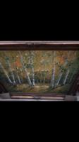 Nyírfa erdő /nyírfák természet kép- olaj festmény