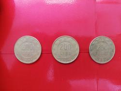 Olasz - 200 líra - 1978, 1979, 1980