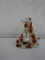 Kutya család - spániel kutyák porcelán figura