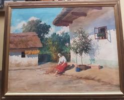 Szontágh Tibor (1873-1930) nagy méretü 115x90 cm