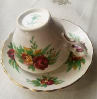 Antik angol teás csésze Crown Staffordshire