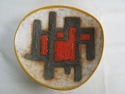 B. Várdeák Ildikó kerámia art deco fali tál