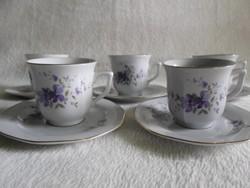 Kínai Liling porcelán ibolyás mokkás, kávés
