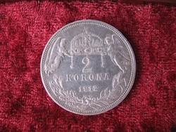 Ezüst 2 korona 1912. Ferenc József