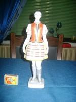 Hollóházi menyecske figura, nipp - 30 cm