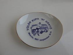 VOLÁN KUPA '97 DÖNTŐ - alkalomra kiadott hollóházi tál - Emléktál