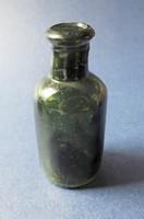 Régi apró zöld üveg N014