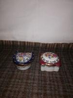 Gyönyörű Német kis ékszertartó porcelán párban!