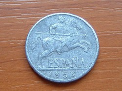 SPANYOL 10 CENTIMOS 1953 ALU.