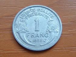FRANCIA 1 FRANC FRANK 1958  ALU.