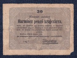 Harmincz pengő krajczárra 1849/id 9663/