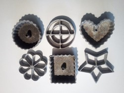 Fém-aluminium gipsz(?) kiöntő formák, 60as-70es évek