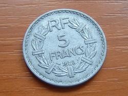FRANCIA 5 FRANCS FRANK 1948 ALU.