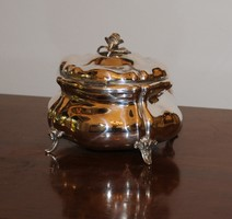 Antik Ezüst cukortartó 1800-as évekből. 800-as finomság, jelzett! 370 g