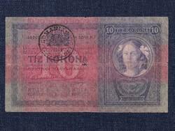 10 Korona 1904, ritka Románia felülbélyegzéssel/id 9662/
