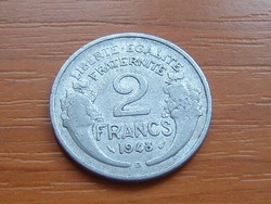 FRANCIA 2 FRANCS FRANK 1948 / B ALU.
