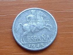 SPANYOL 10 CENTIMOS 1945 ALU.