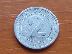AUSZTRIA OSZTRÁK 2 GROSCHEN 1965 ALU.