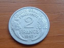 FRANCIA 2 FRANCS FRANK 1947 ALU.