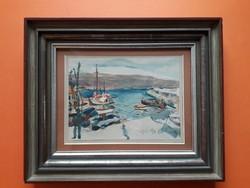 Magyar festő: Voloscai kikötő