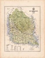 Bács - Bodrog megye térkép 1886 (2), vármegye, atlasz, Kogutowicz Manó, 44 x 57 cm, Gönczy Pál