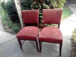 2db Art Deco szék együtt, étkezőszék, SÜRGŐSEN eladó
