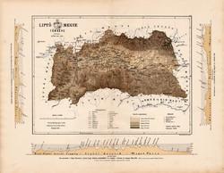 Liptó megye térkép 1887 (2), vármegye, atlasz, Kogutowicz Manó, 44 x 56 cm, Gönczy Pál