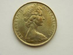 1966  Ausztrál ezüst 50 cent.