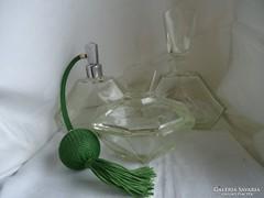 Art Deco Jelzett Cseh Bohémia Parfümös Készlet