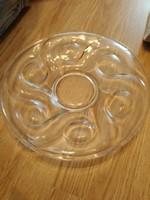 Nagyon régi üveg tányér vastag  30 cm átm