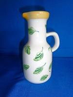 Nagyon ritka Herendi Elizabeth Barrett Roache majolika, kerámia kancsó váza 15 cm magas