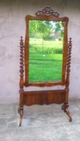 Gyönyörű Eredeti Antik Neo álló tükör.
