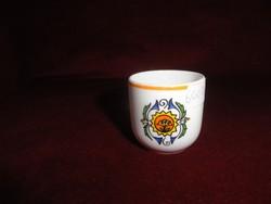 Hollóházi porcelán stampedlis kupica (címeres) 4,5 cm magas.